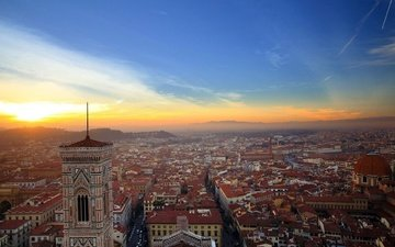 panorama, the city, italy, florence