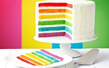 background, color, rainbow, sweet, cake, dessert, layers, cream