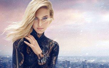 dress, blonde, panorama, the city, look, watch, model, blue eyes, bar rafaeli, bar refaeli