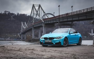 city, bridge, bmw, ukraine, bmw f82, bmw m4