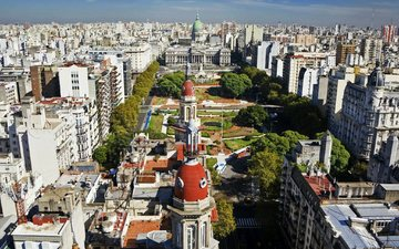 park, the city, street, argentina, buenos aires, the national congress palace