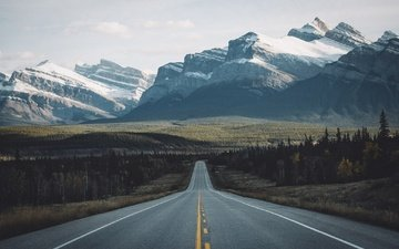 road, mountains, nature, canada, johannes hulsch