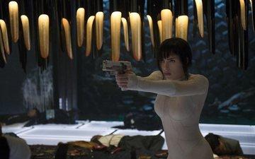 пистолет, робот, фильм, образ, призрак в доспехах, скарлет йохансон