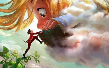 мультфильм, лицо, мальчик, великан, disney world, великаны, gigantic