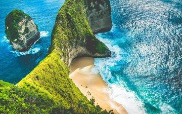 скалы, пейзаж, море, пляж, побережье, galjan