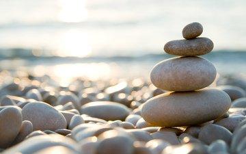 stones, pebbles, macro