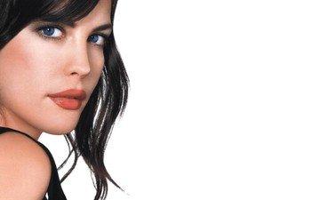 девушка, взгляд, волосы, лицо, актриса, макияж, лив тайлер, голубоглазая
