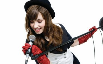 microphone, actress, singer, american, demi lovato