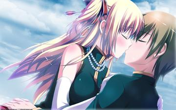 девушка, парень, аниме, поцелуй, narumi yuu, iro ni ide ni keri waga koi wa, ?