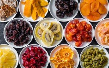 апельсин, киви, ананас, изюм, инжир, курага, сухофрукты, финики, манго, цукаты, чернослив