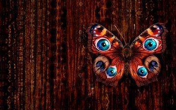 арт, рисунок, текстура, бабочка