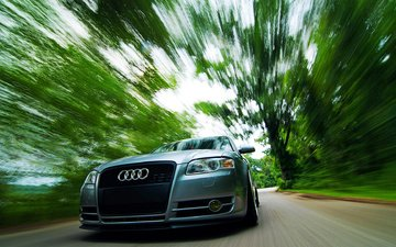 audi, cars, speed, audi a4