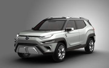 автомобиль, concept, внедорожник, на альпийские, ssangyong xavl