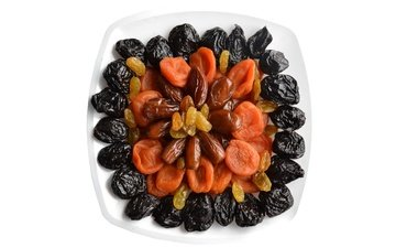 white background, raisins, dried apricots, dried fruits, dates, prunes