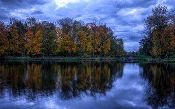берег, осень, водоем