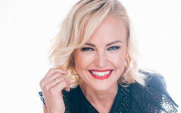 blonde, smile, actress