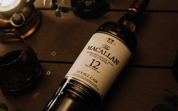bottle, whiskey, macallan