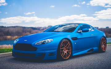 road, nature, sport, blue, car, drives, martin, aston, vantage, kit, v12