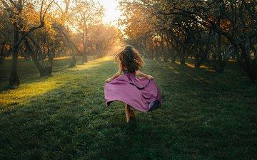 девушка, платье, сад, георгий чернядьев