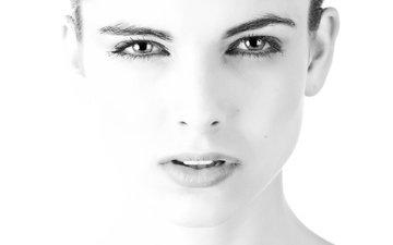 глаза, девушка, взгляд, губы, лицо, нос