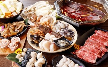 mushrooms, meat, seafood, cuts, meals, shellfish