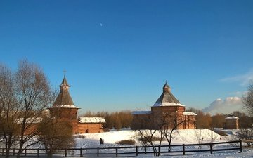 winter, park, church, image, museum, kolomenskoye