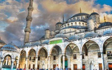 architecture, the building, palace, turkey, mosque, facade, istanbul, the urban landscape, cathedral, basilica