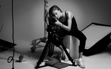 чёрно-белое, модель, фотоаппарат, камера, аппарат, yara khmidan, яра хмидан