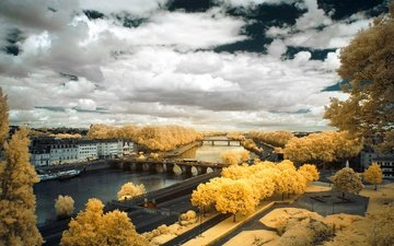 landscape, france, angers, the promenade du bu du monde, infrared the