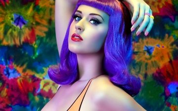 girl, look, hair, face, singer, makeup, katy perry, blue-eyed