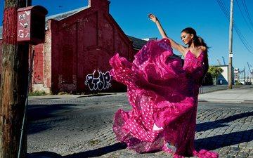 платье, брюнетка, улица, актриса, певица, прическа, гламур, фотосессия, aктриса, зендая, victor demarchelier