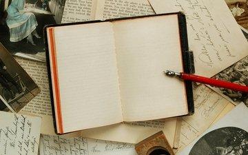 ручка, стол, письмо, блокнот