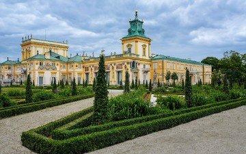 garden, palace, warsaw