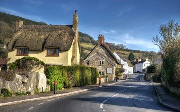 road, village, home, street, england