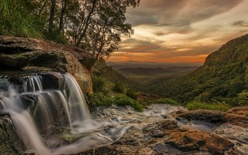 водопад, австралия, речка