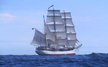 wave, sea, ship