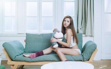 look, room, legs, sofa, asian