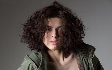 взгляд, модель, волосы, николь, nikol