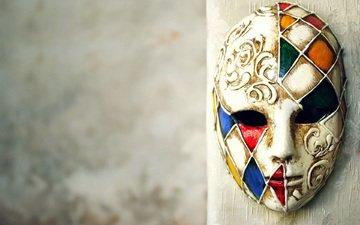маска, стена, карнавал, маскарад