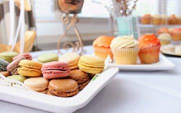 cookies, cakes, dessert, cupcakes, macaroon