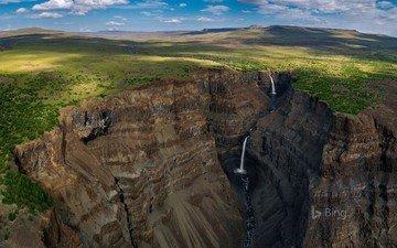 река, скалы, пейзаж, водопад, россия, плато, плато путорана