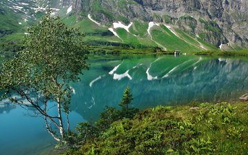 lake, mountains, nature, landscape, summer