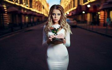 girl, blonde, model, posing, ivan gorokhov