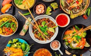 food, sauce, salad, appetizer, soup, oriental cuisine