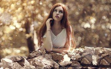 камни, девушка, модель, шатенка, алессандро ди чикко, valentina galassi