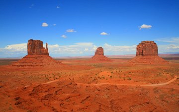 the sky, clouds, rocks, nature, landscape, canyon, monument valley