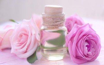 розы, масло, аромат, духи, флакон