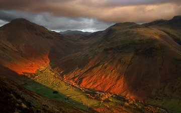 mountains, landscape, uk, england, valley