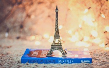 light, lights, eiffel tower, book, souvenir