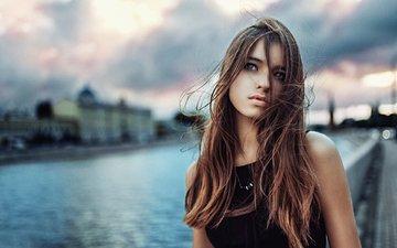 девушка, взгляд, волосы, лицо, голубые глаза, фотосессия, георгий чернядьев, анастасия малахова